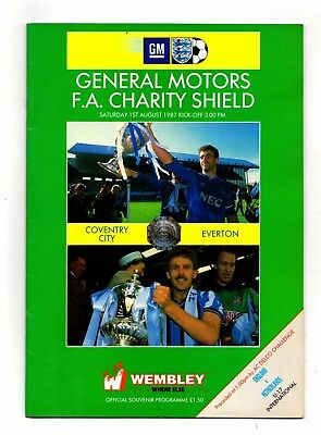 1987 Charity Shield Coventry v Everton   includes England under 17 v Netherlands