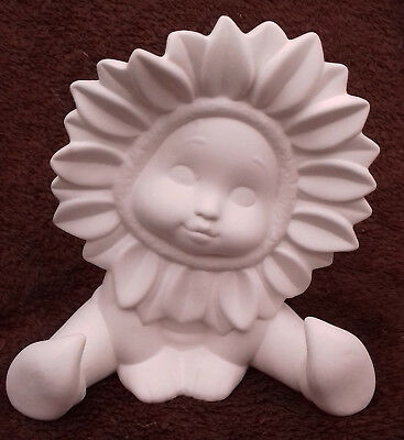 """Paint Your Own Ceramic Bisque - Sitting Sunflower Baby - Approx 5"""" tall"""