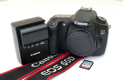 Canon EOS 60D 18.0 MP Black Digital DSLR Camera Body Only