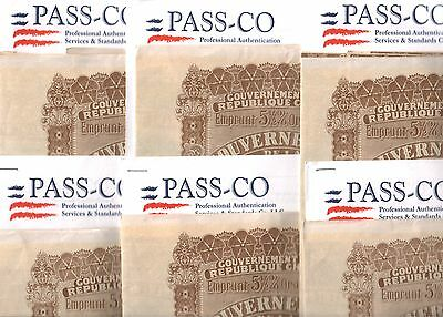 RARE HUGE HISTORIC MINT 1913 CHINA PETCHILI BOND w COUPONS/PASSCo 10 @ $1500 EA