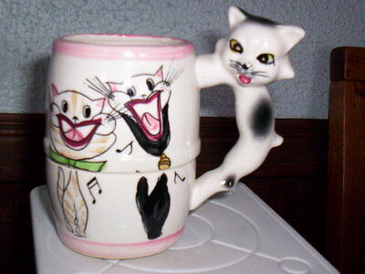 CUTE   Vintage Porcelain  Kitty Cat Kitten Mug Cup