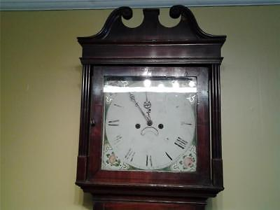 Georgian longcase grandfather clock oak & mahogany
