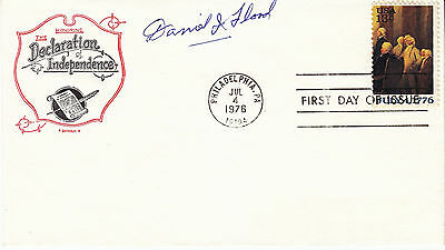 DANIEL J FLOOD hand signed 1976 FDC First Day Cover FDOI autographed e