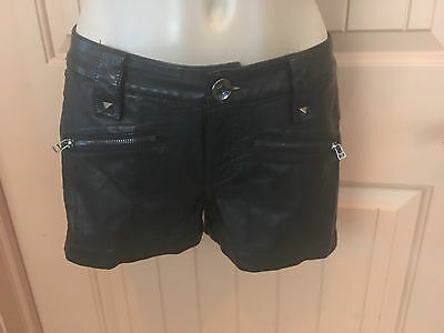 """Leatherette by Boom Boom shorts 3 or 5 black stretch """"leather"""" best I have seen"""