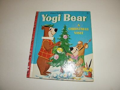 Little Golden Book #433 Yogi Bear A Christmas Visit 5th Print 1961 Crawford FN-