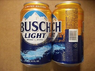 NEW 12 oz. Busch Light Beer Can   2017 LE Hunting Can   666358  BO AL StaTab