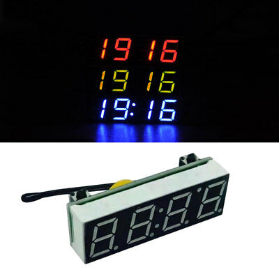 Car Auto Digital Led Electronic Time Clock Thermometer Three Colors For Choose