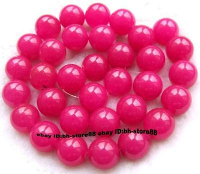 10mm Pink Jade Round gemstone Beads 15''