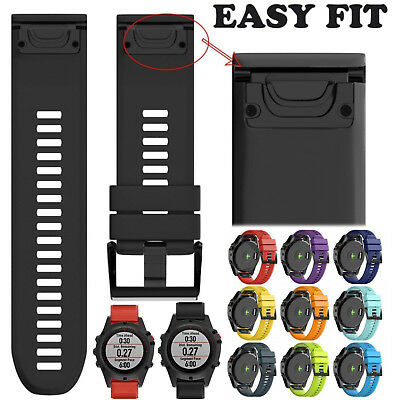 26mm Quick Install Silicone Rubber Wrist Strap For Garmin Fenix 3/5X GPS Watch