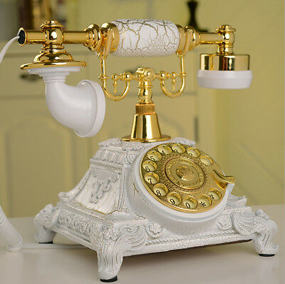 Vintage Antique Phone Handset Old European Style Rotary Dial Telephone Home NEW