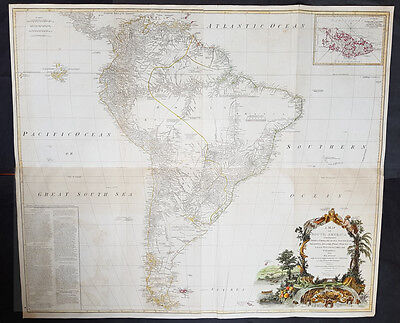 1794 Laurie, Whittle & Kitchin Very Large Original Antique Map of South America