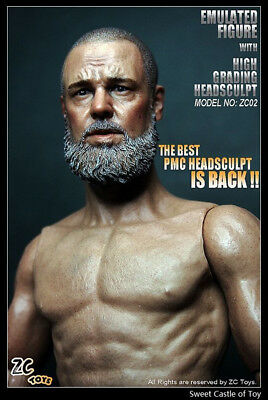 ZCTOYS 1/6 Male Muscular Action Figure Body With Russell Crowe Head Scuplt Model
