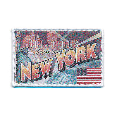 72 x 45 mm New York Retro Nostalgie Patch USA Edel Aufnäher Aufbügler 0751 A