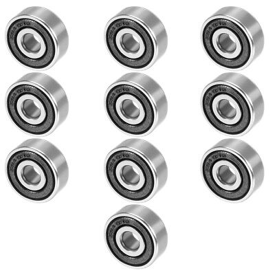 10pcs 624-2RS 4mmx13mmx5mm Double Sealed Miniature Deep Groove Ball Bearing
