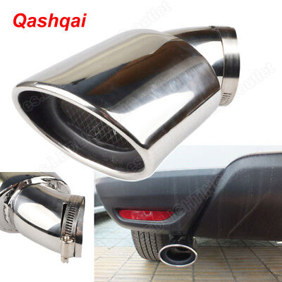 63mm Stainless Steel Exhaust Tail Rear Muffler Pipe Tip Nissan Qashqai 2007-2013