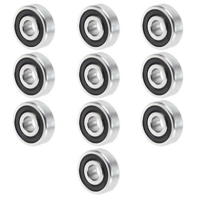 10pcs 604-2RS 4mmx12mmx4mm Double Sealed Miniature Deep Groove Ball Bearing