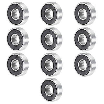 607RS 7mmx19mmx6mm Double Sealed Miniature Deep Groove Ball Bearing 10pcs