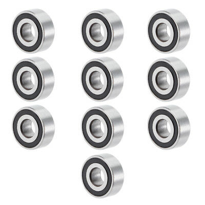 10pcs MR104-2RS 4mmx10mmx4mm Double Sealed Miniature Deep Groove Ball Bearing