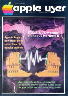 APPLE USER Magazine, Volume 5, Number 2, February 1985. GC. FreeUK Postage