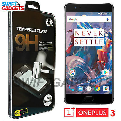 100% Genuine Tempered Glass Screen Protector One Plus 3 For OnePlus Three / 3T
