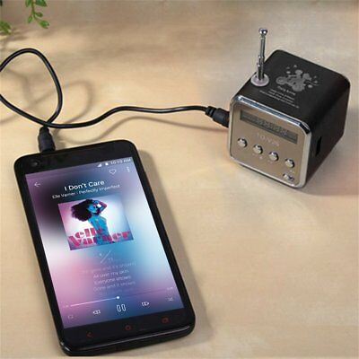 Portable TF USB Mini Stereo Speaker Music Player FM Radio PC MP3 /4 CN