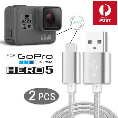 2x USB Type-C 3.1 Data Sync Power Charging Charger Cable F Gopro Hero 5 Camera 6
