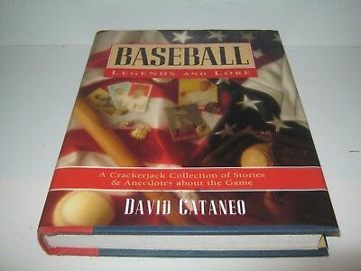 Baseball Legends and Lore by David Cantaneo (1995, Hardcover) FREE SHIPPING