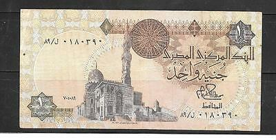 EGYPT #50a 1980 VF CIRC OLD POUND BANKNOTE PAPER MONEY CURRENCY BILL NOTE