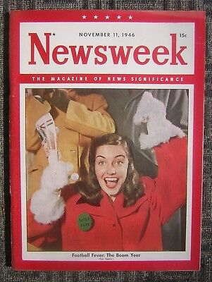 11/11/1946 Newsweek - The Magazine of News Significance - Football Fever Cover