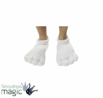 Cartoon Character White Oversized Padded Feet Shoe Fancy Dress Costume Accessory