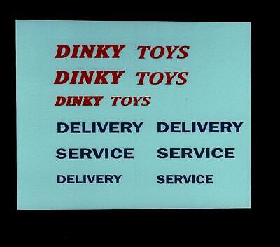DINKY No 582/982 BEDFORD PULLMORE CAR TRANSPORTER TRANSFERS / DECALS