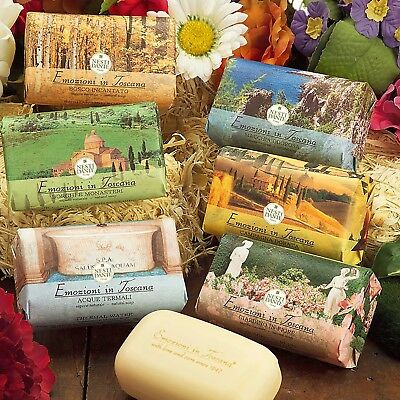 NESTI DANTE Emozioni in TOSCANA Italian Bar Soap Collection GIFT BOX 6 x 5.3 oz