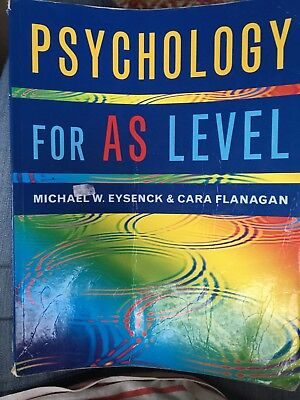Psychology For AS Level Eysenck And Flanagan