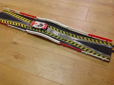 Scalextric Classic Track Humpback Chicane Extension Set Barriers Exc Refurbish