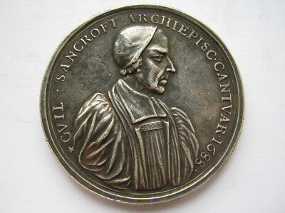 1688 Archbishop Sancroft and the Bishops medal silver 51mm Eimer 288a