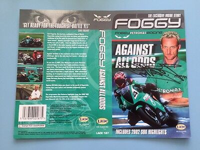 HAND SIGNED Autograph CARL Foggy FOGARTY World Superbike DVD Cover 100% Genuine