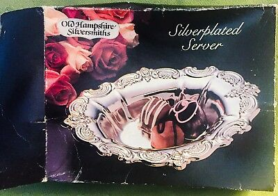Silver Plated Server with lovely Patina by Old Newhampshire Silversmiths NIB