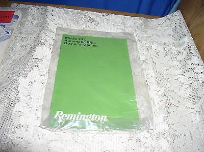 Remington Model 742 Automatic Rifle - Factory Owner's Manual Only