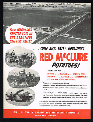 1953 Colorado San Luis Valley Red McClure Potatoes Vintage Photo Print Ad