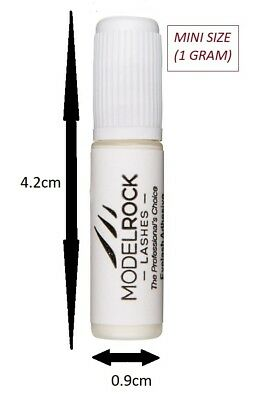 MODELROCK LASHES Lash Adhesive Glue False Eyelashes 1gm White Clear LATEX FREE
