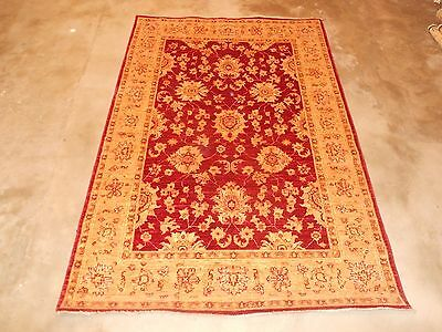 EXCLSUIVE RARE CHOBI VEGE DYED HAND KNOTTED RUG CARPET 185x121cm 'New'