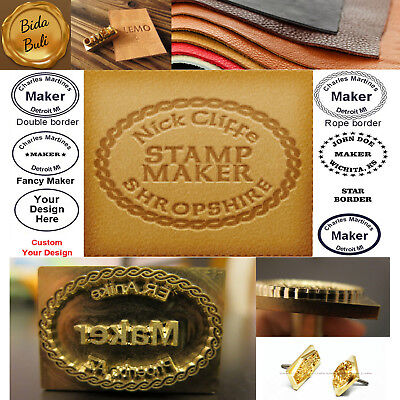 Custom Made Makers Leather Stamp Branding Iron Seal Stamp With Steel Handle