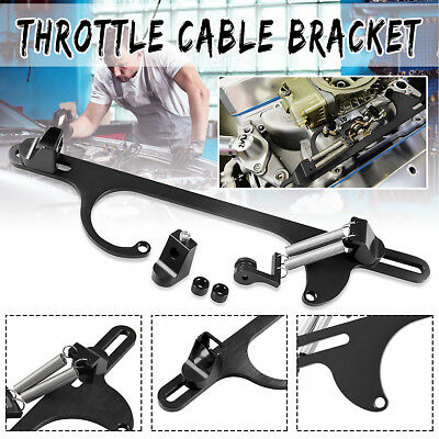 Car Aluminum 4150 4160 Series Billet Throttle Cable Carb Bracket Carburetor 350