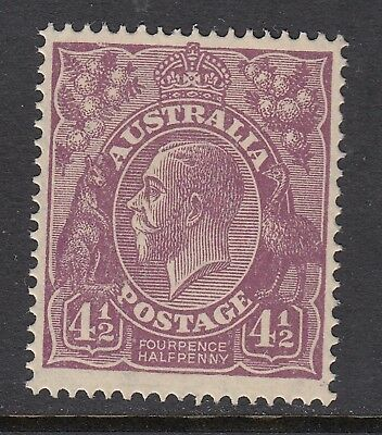 1927 4½d VIOLET KGV Small Multiple Watermark, Perforated 14, Mint Never Hinged