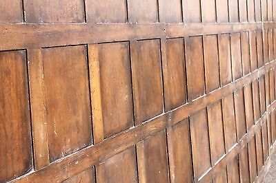 Reclaimed C1880 Antique Oak 7.5ft Tall Wall Panelling - 36 Foot Job Lot