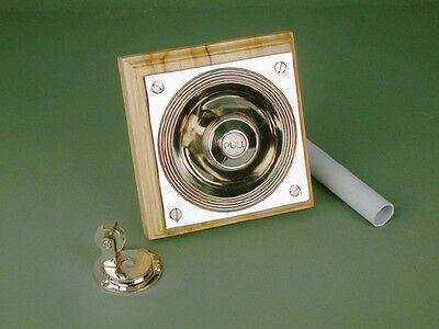 Antique Nickel Claverley Butlers Bell Pull Mounted On An Oak Backboard Warwick