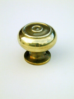 Small Antique Solid Brass Bloxwich Cabinet / Cupboard Door Knob / Handle Warwick