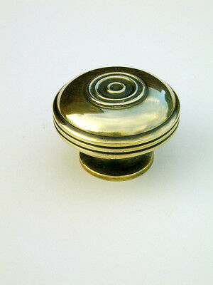Large Antique Solid Brass Bloxwich Cabinet / Cupboard Door Knob / Handle Warwick