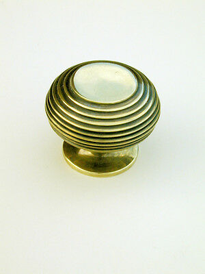 Large Antique Solid Brass Beehive Cabinet / Cupboard Door Knob / Handle  Warwick