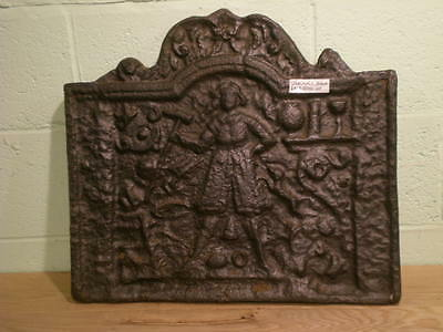 Reclaimed Period Antique Cast Iron Fire Back 23 x 21 Inch -  Warwick Reclamation